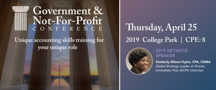2019 GOVERNMENT AND NOT-FOR-PROFIT CONFERENCE