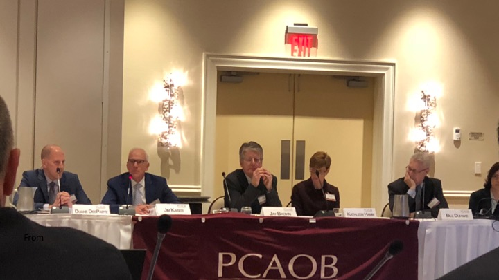 pcaob members be taken from the investment community