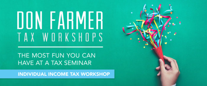 Don Farmer's 2019 Individual Income Tax Workshop