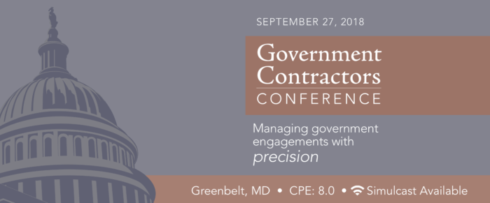 2018 GOVERNMENT CONTRACTORS CONFERENCE