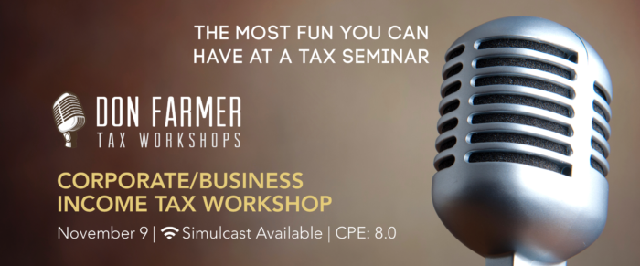 Don Farmer's 2018 Corporate Income Tax Workshop