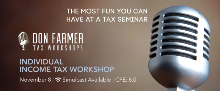 Don Farmer's 2018 Individual Income Tax Workshop