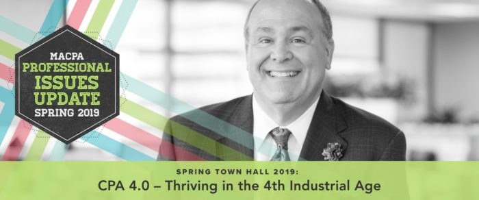 CPA 4.0 – Thriving in the 4th Industrial Age: Spring Town Hall 2019