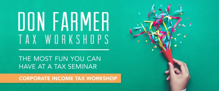 Don Farmer's 2019 Corporate Income Tax Workshop