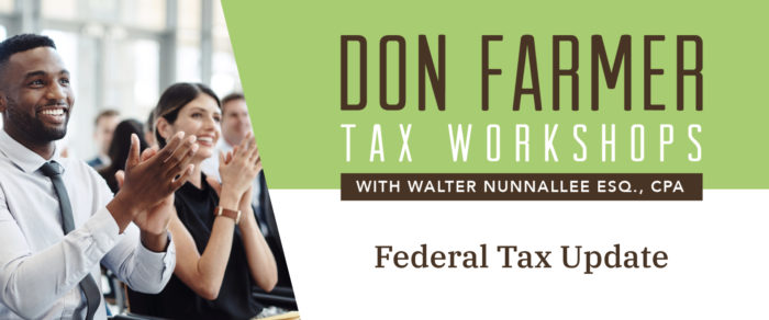 Don Farmer's 2020 Federal Tax Update