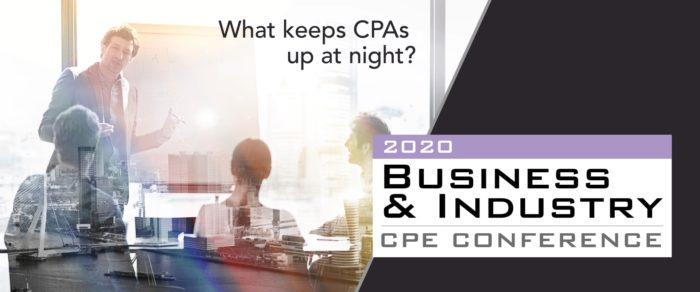 2020 BUSINESS AND INDUSTRY CPE CONFERENCE