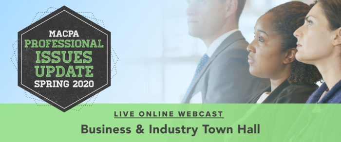 Spring 2020 Professional Issues Update: Business & Industry Town Hall – Getting through the Storm of COVID-19