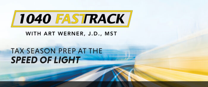 The 1040 Fast Track – A Comprehensive Individual Tax Seminar for CPAs and Their Staff