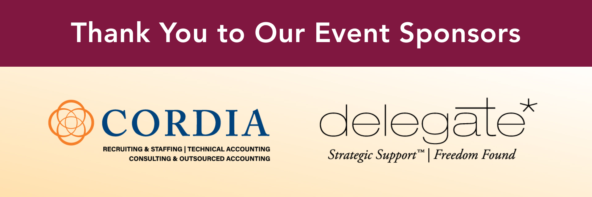 MACPA Fall Town Hall Sponsors Corida Partners and Delegate Solutions