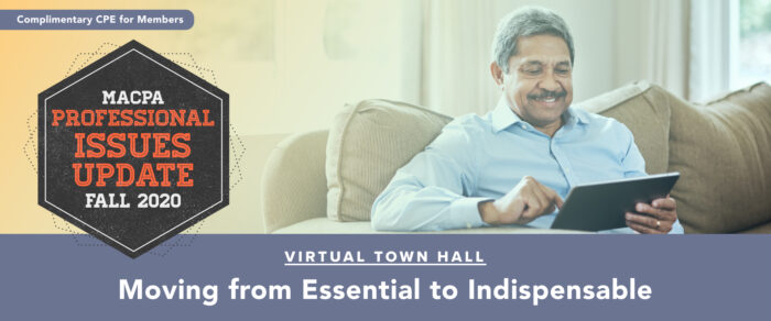 Fall Town Hall 2020:  Moving from Essential to Indispensable (replay of October Update)