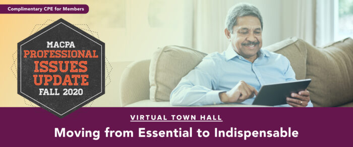 Fall Town Hall 2020:  Moving from Essential to Indispensable (replay of November Update)