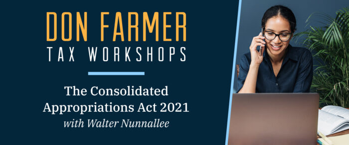Don Farmer's The Consolidated Appropriations Act, 2021