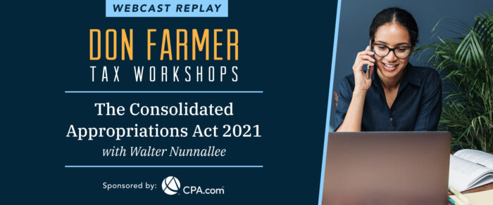 Don Farmer's The Consolidated Appropriations Act, 2021 (replay)