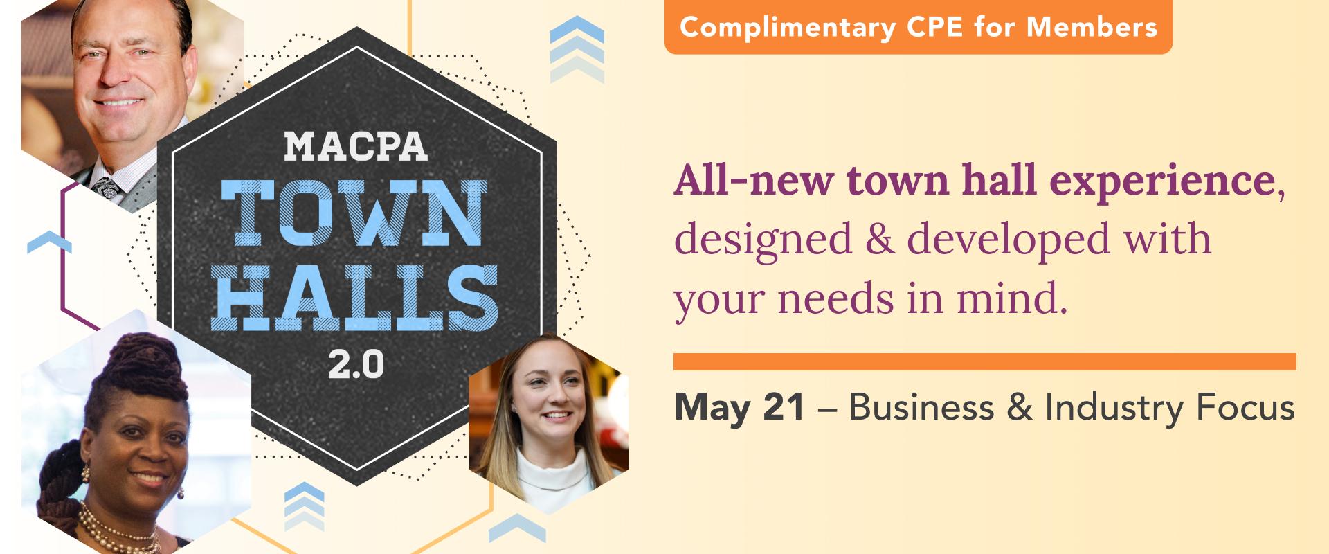 MACPA Town Hall (May 2021 – B&I Focus)