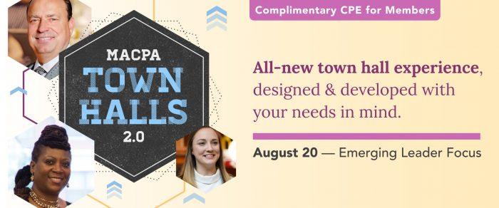 MACPA Town Hall (August 2021 – Emerging Leader Focus)