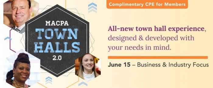 MACPA Town Hall (May 2021 – B&I Focus) (Rebroadcast)