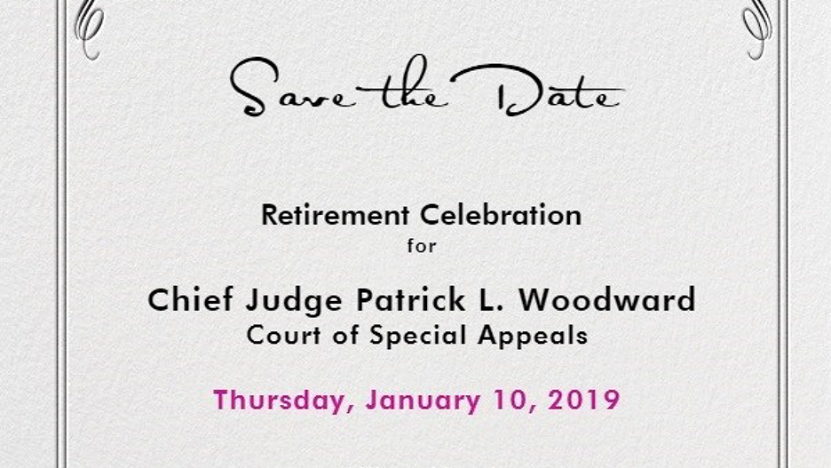 save the date retirement celebration for cosa chief judge patrick l