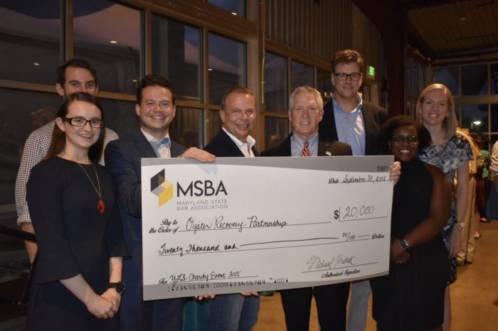MSBA Raises $20K for Oyster Recovery Partnership