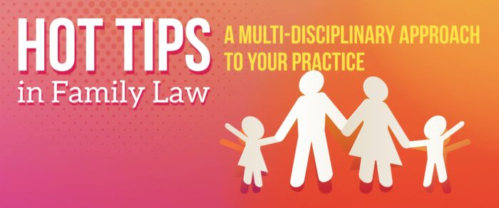 Hot Tips in Family Law – A Multi-Disciplinary Approach to Your Practice