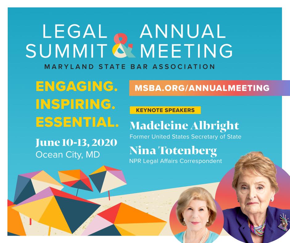 MSBA Legal Summit & Annual Meeting Update