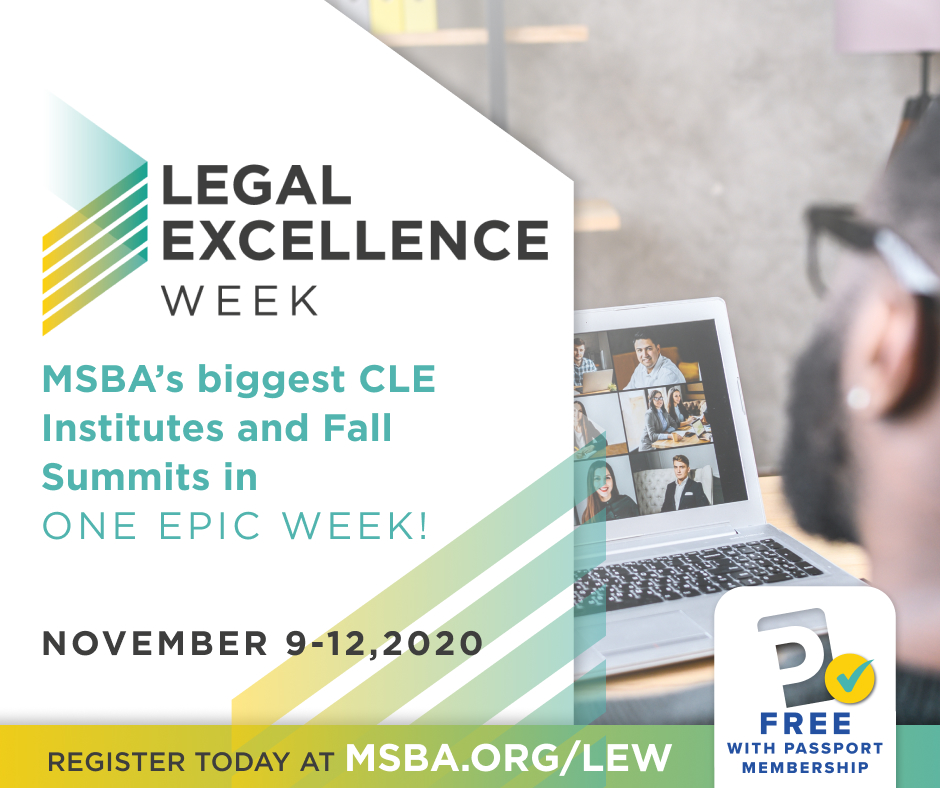 MSBA Legal Excellence Week – Weekly Pass