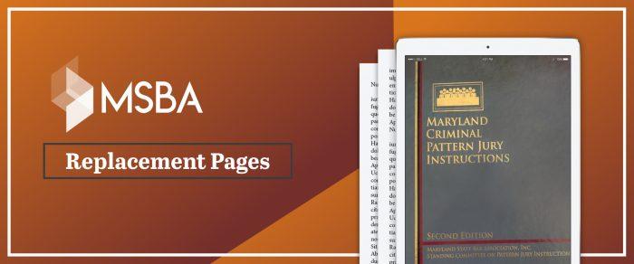 Maryland Criminal Pattern Jury Instructions, Second Edition