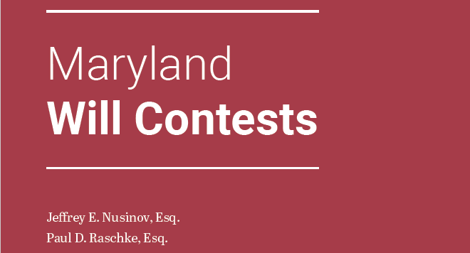 Maryland Will Contests